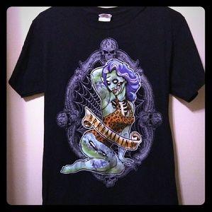 Gothic Zombie Pinup Shirt